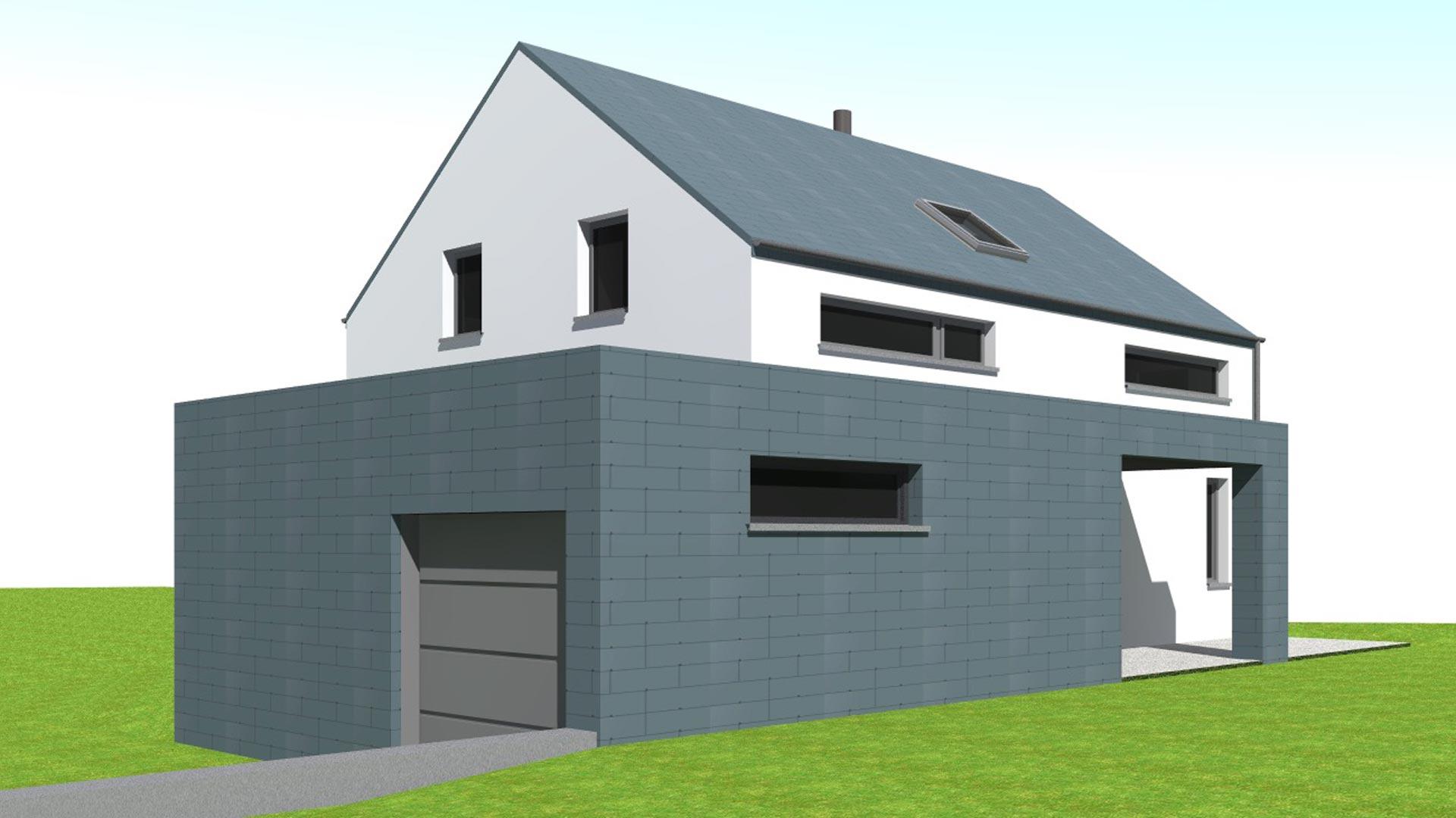 Projet d'habitation moderne .