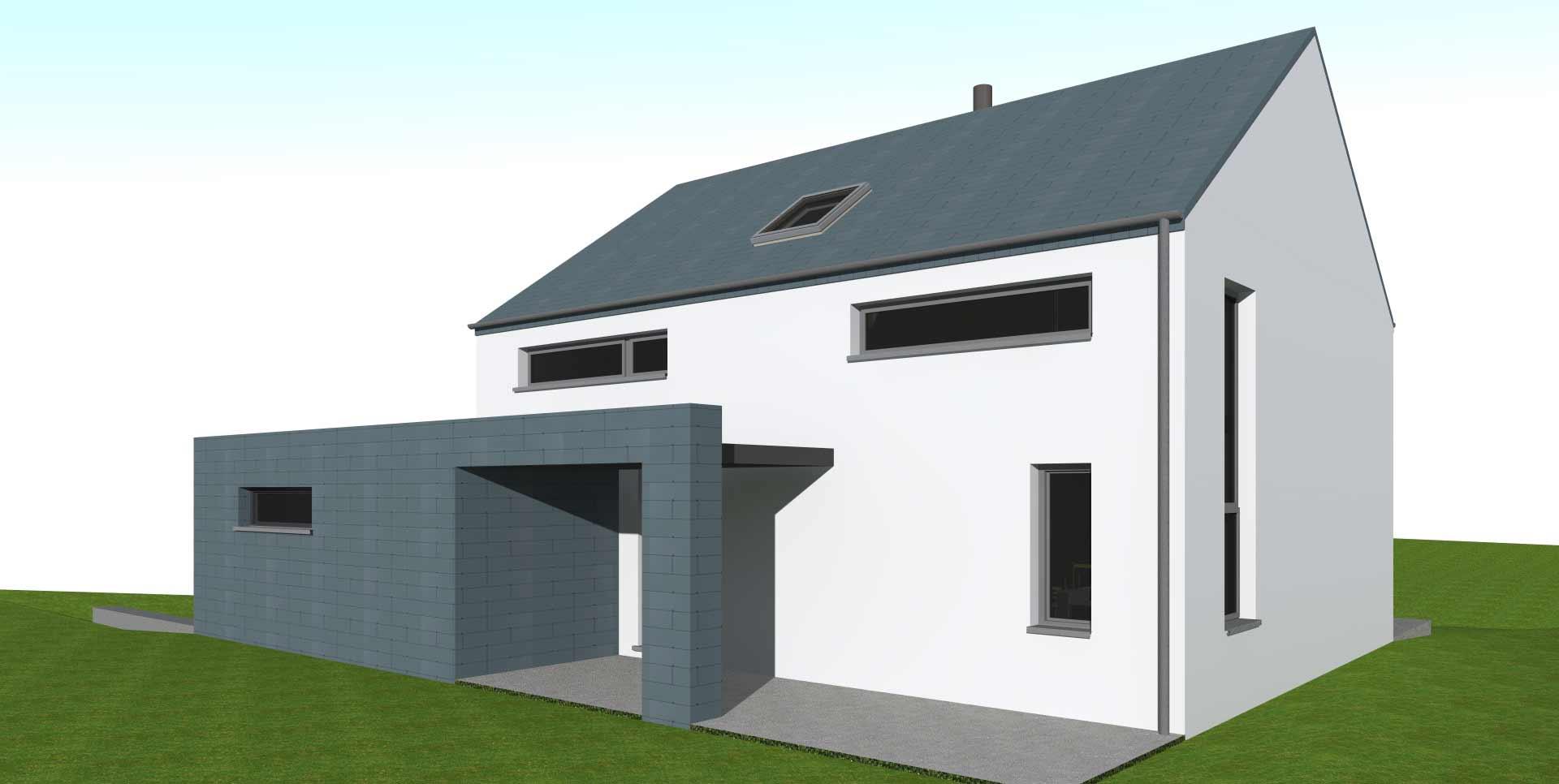 Projet de maison moderne .