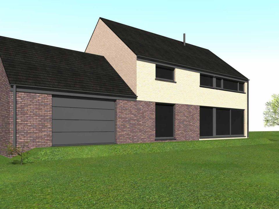 Geoffrey carion architecte à andenne / projet de construction d'une habitation unifamiliale en maçonnerie traditionnelle