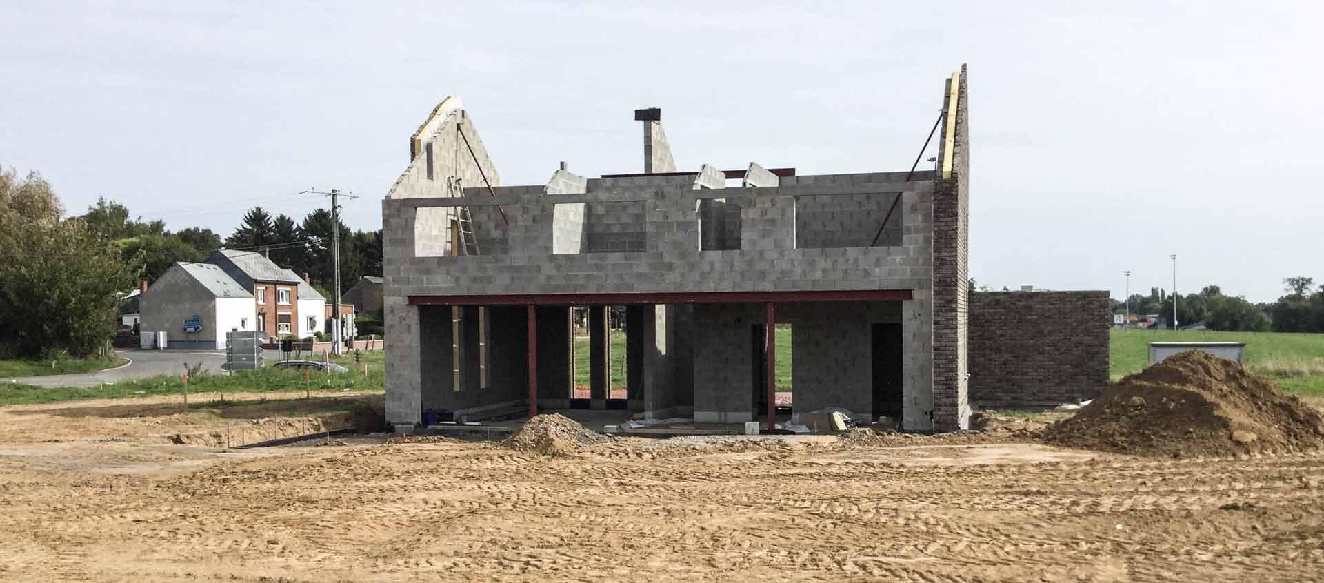 Geoffrey carion architecte à andenne / projet de construction d'une habitation unifamiliale en maçonnerie traditionnelle à Eghezée