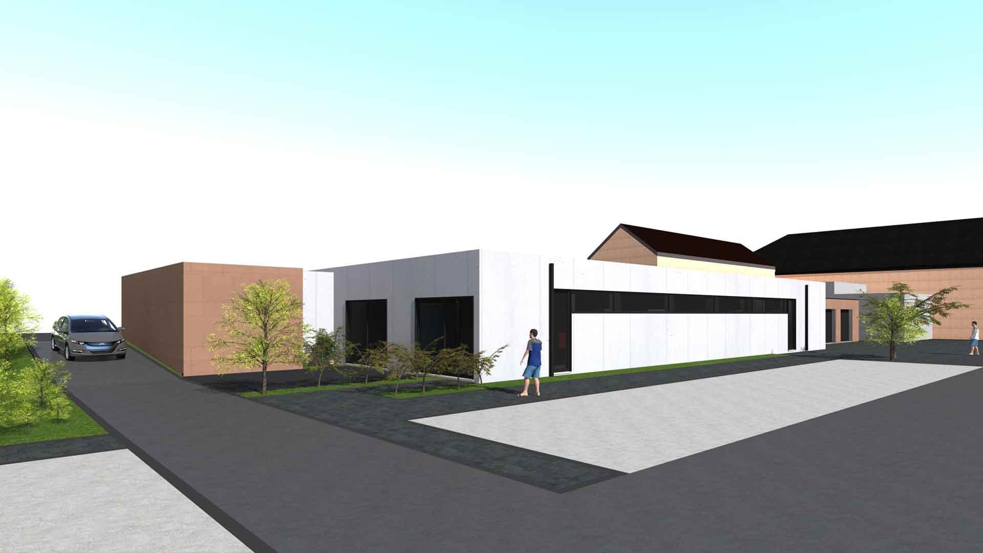 Geoffrey Carion architecte andenne construction d'un funérarium
